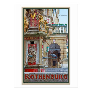 Rotheburg od Tauber - St George Fountain Postcard
