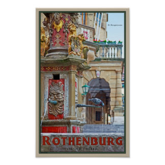 Rotheburg od Tauber - St George Fountain Posters