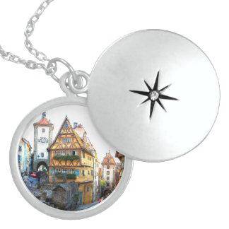 Rothenburg20150903 Round Locket Necklace