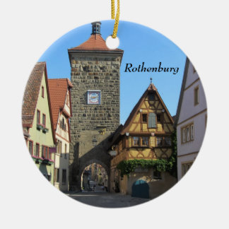 Rothenburg, Alemania Adorno Navideño Redondo De Cerámica