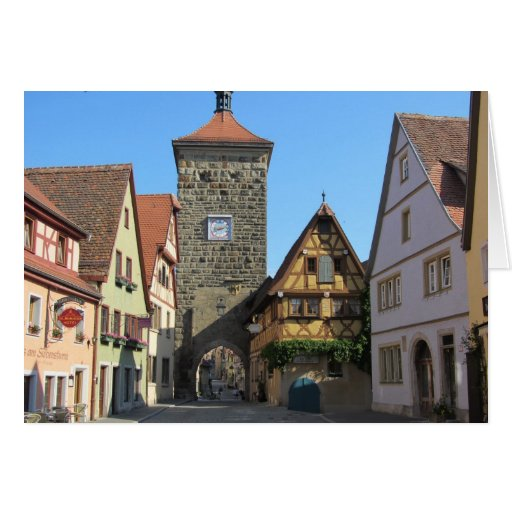 Rothenburg, Alemania Tarjeta Pequeña