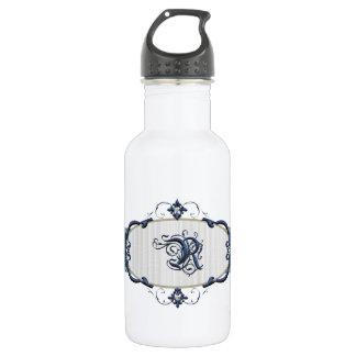 Rothenburg Blue Monogram-Letter R 18oz Water Bottle