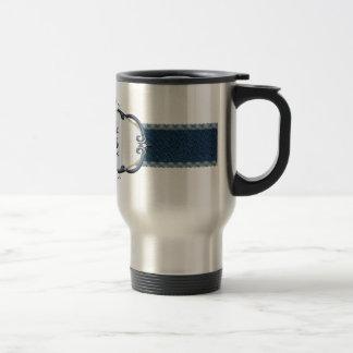 Rothenburg Blue Monogram-Letter X Travel Mug