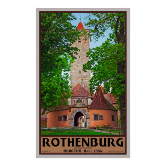 Rothenburg Castle Gate Poster