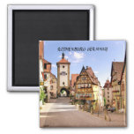 ROTHENBURG  GERMANY 2 INCH SQUARE MAGNET