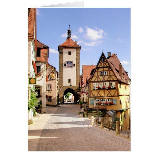 ROTHENBURG, GERMANY GREETING CARD