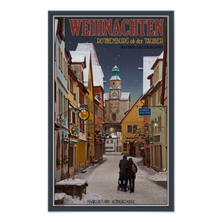 Rothenburg - Markusturm Christmas Posters