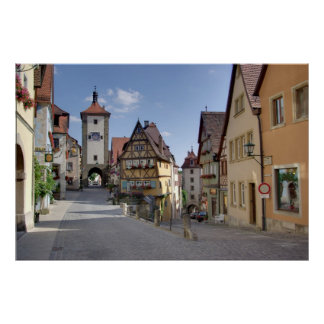 Rothenburg ob der Tauber Germany Poster