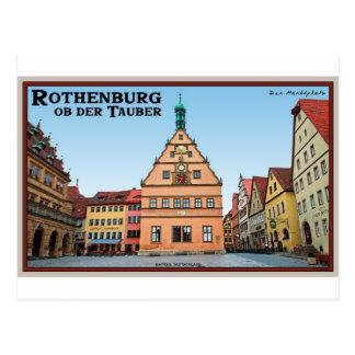 Rothenburg od Tauber - der Marktplatz Postcard