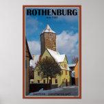 Rothenburg od Tauber - escena del invierno Posters
