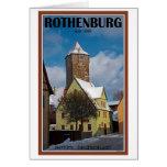 Rothenburg od Tauber - escena del invierno Tarjetas