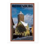 Rothenburg od Tauber - escena del invierno Tarjetas Postales