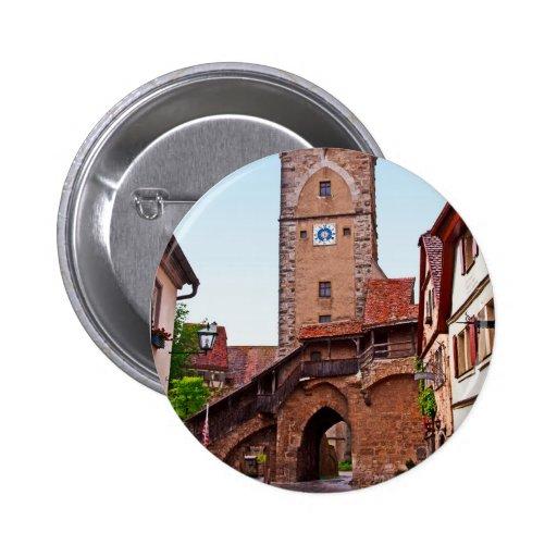 Rothenburg od Tauber - Klingentor Pinback Button