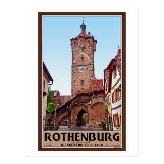 Rothenburg od Tauber - Klingentor Postcard
