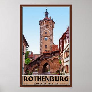 Rothenburg od Tauber - Klingentor Poster