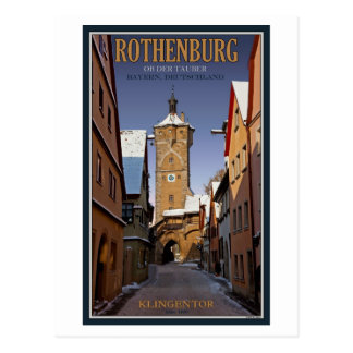 Rothenburg od Tauber - Klingentor - Winter Postcard