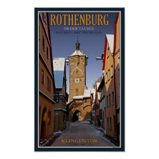 Rothenburg od Tauber - Klingentor - Winter Poster