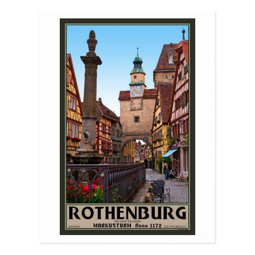 Rothenburg od Tauber - Markusturm Postcard