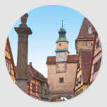 Rothenburg od Tauber - Markusturm Classic Round Sticker