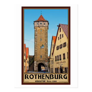 Rothenburg od Tauber - Rödertor Postcard