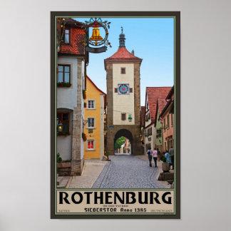 Rothenburg od Tauber - Sieberstor Poster