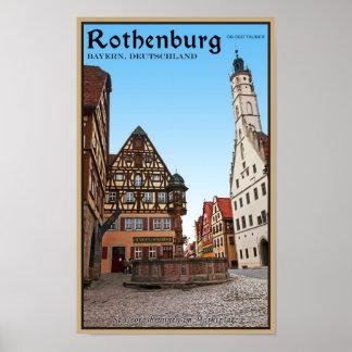 Rothenburg od Tauber - St Georgbrunnen Poster