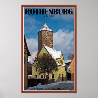 Rothenburg od Tauber - Winter Scene Print