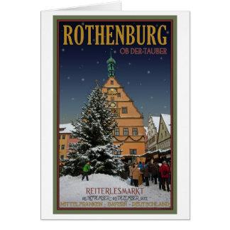 Rothenburg Reiterlesmarkt Tarjeta De Felicitación