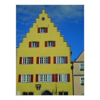Rothenburg small canvas print