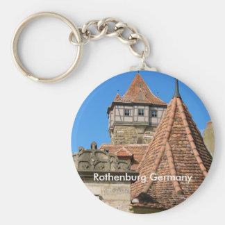 Rothenburg Towers Basic Round Button Keychain