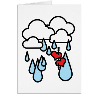 "Rothenhagen ""Raining Hearts"" Greeting Card"