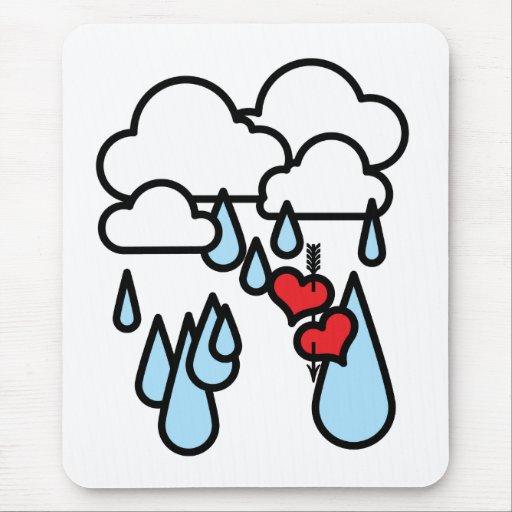 """Rothenhagen """"Raining Hearts"""" Mouse Pad"""