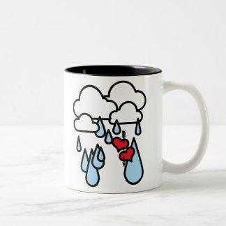 "Rothenhagen ""Raining Hearts"" Two-Tone Coffee Mug"