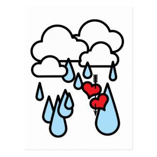"""Rothenhagen """"Raining Hearts"""" Postcard"""