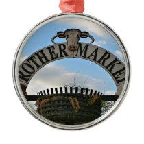 Rother Market sign, Stratford, England Metal Ornament