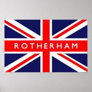 Rotherham UK Flag Poster