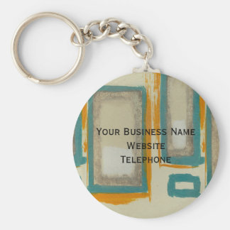 Rothko Inspired Abstract Basic Round Button Keychain