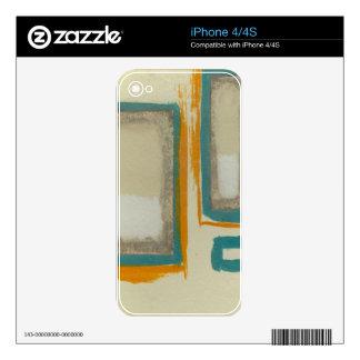 Rothko suave e intrépido inspiró el extracto calcomanía para iPhone 4
