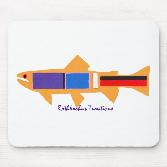 Rothko Trout Mouse Pad