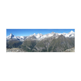 Rothorn panorama, Valais Alps Canvas Print