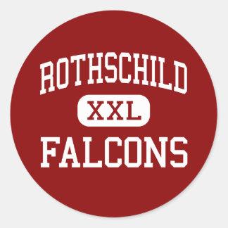 Rothschild - Falcons - Middle - Columbus Georgia Classic Round Sticker