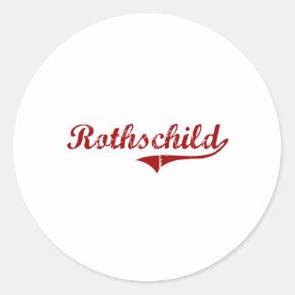 Rothschild Wisconsin Classic Design Classic Round Sticker
