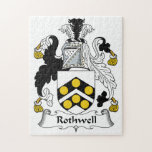 Rothwell Family Crest Jigsaw Puzzles