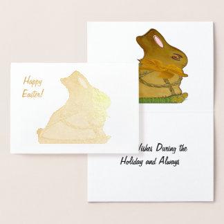 Roti Tussock Bunny Foil Card