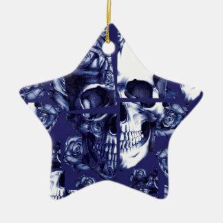 Roto encima de los cráneos de la marina de guerra ornamentos de reyes magos