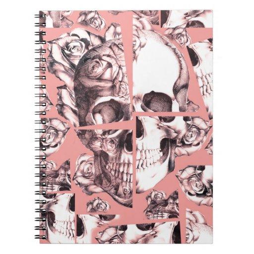 Roto para arriba, imágenes fracturadas del cráneo  cuaderno