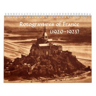 Rotogravures France Sepia Paris 1920s Historical Wall Calendar