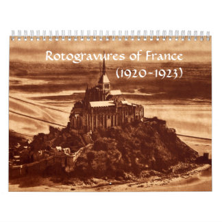 Rotogravures France Sepia Paris 1920s Historical Calendar