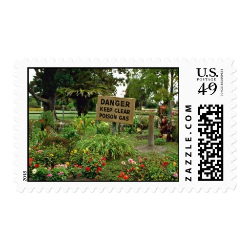 Rotorua flowers stamp