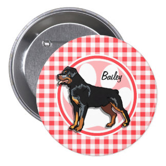 Rott; Red and White Gingham Pin